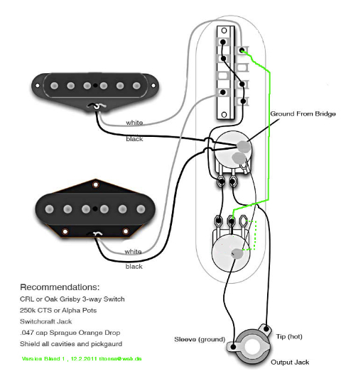 telecaster wiring diagram for blend 5